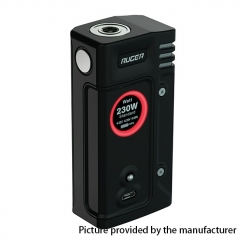 Authentic ThinkVape Ruger 230W Dual 18650 TC VW Variable Wattage Box Mod - Black