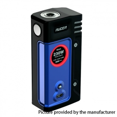 Authentic ThinkVape Ruger 230W Dual 18650 TC VW Variable Wattage Box Mod - Blue