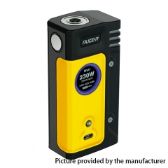 Authentic ThinkVape Ruger 230W Dual 18650 TC  VW Variable Wattage Box Mod - Yellow