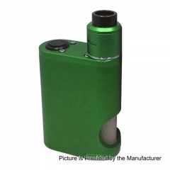 Drip Goon Box Style 24MM Mechanical Squonk Box Mod + Goon 1.5 Style RDA Kit w/8ml Bottle - Green