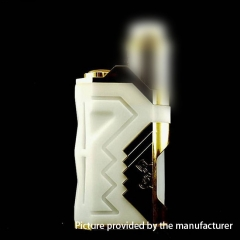 Underground Style 18650/20700/21700 Squonk  Box Mod w/8ml Bottle - White