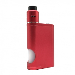 Driptech-DS Goon Box Style 24MM Mechanical Squonk Box Mod + Goon 1.5 Style RDA Kit w/8ml Bottle - Red