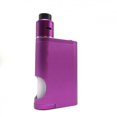 Drip Goon Box Style 24MM Mechanical Squonk Box Mod + Goon 1.5 Style RDA Kit w/8ml Bottle - Purple