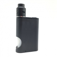 Drip Goon Box Style 24MM Mechanical Squonk Box Mod + Goon 1.5 Style RDA Kit w8ml Bottle w/8ml Bottle- Black