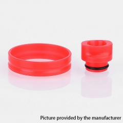 510 POM Replacement Drip Tip + Adapter Ring Kit for RDA / RTA / Sub Ohm Tank  - Red