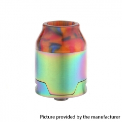 Elite Style 24mm RDA Rebuildable Dripping Atomizer w/BF Pin- Rainbow