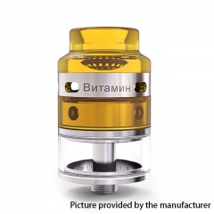 Authentic YSTAR Vitamin 24mm RDTA Rebuildable Dripping Tank Atomizer - Silver