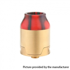 Elite Style 24mm RDA Rebuildable Dripping Atomizer w/BF Pin- Gold