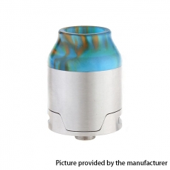 Elite Style 24mm RDA Rebuildable Dripping Atomizer w/BF Pin- Silver