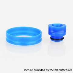 510 POM Replacement Drip Tip + Adapter Ring Kit for RDA / RTA / Sub Ohm Tank  - Blue
