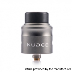 Authentic Wotofo Nudge 24mm RDA Rebuildable Dripping Atomizer w/ BF Pin - Gun Metal