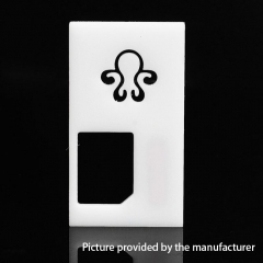 Replacement Aluminum Back Cover Panel for Octopus Mods Style Squonk Box Mod - White
