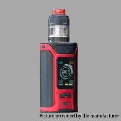 Authentic Wismec Sinuous RAVAGE230 200W TC VW APV Mod w/GNOME Evo Tank (4ml) - Red