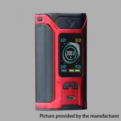 Authentic Wismec Sinuous RAVAGE230 200W TC VW APV Mod  - Red
