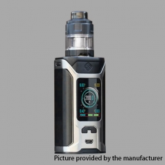 Authentic Wismec Sinuous RAVAGE230 200W TC VW APV Mod w/GNOME Evo Tank (2ml) - Silver