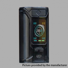 Authentic Wismec Sinuous RAVAGE230 200W TC VW APV Mod  - Black