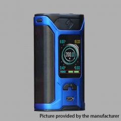 Authentic Wismec Sinuous RAVAGE230 200W TC VW APV Mod  - Blue