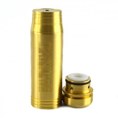 Tomahawk Style 24mm 18560 Mechanical Mod w/Logo - Brass