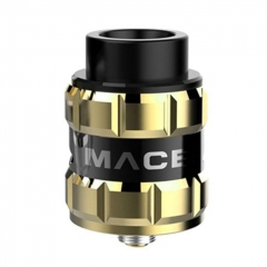 Pre-sale Authentic Ample Mace 24mm RDA Rebuildable Dripping Atomizer w/ BF Pin - Gold