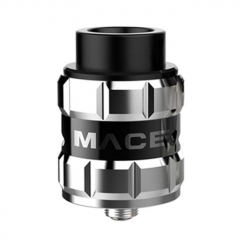 Pre-sale Authentic Ample Mace 24mm RDA Rebuildable Dripping Atomizer w/ BF Pin - Silver