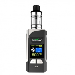 Authentic Kangvape Caesar 200W VW TC APV Box Mod w/ Clearomizer 2ml Kit - Silver