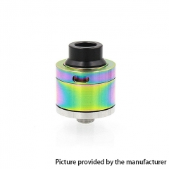 Sentinel Style 22mm RDA Rebuildable Dripping Atomizer w/ BF Pin - Rainbow