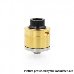 Sentinel Style 22mm RDA Rebuildable Dripping Atomizer w/ BF Pin - Gold