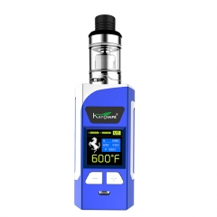 Authentic Kangvape Caesar 200W VW TC APV Box Mod w/ Clearomizer 2ml Kit - Blue