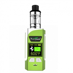 Authentic Kangvape Caesar 200W VW TC APV Box Mod w/ Clearomizer 2ml Kit - Green