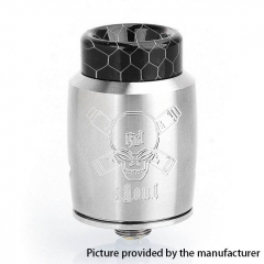 Authentic Blitz Ghoul 22mm RDA Rebuildable Dripping Atomizer w/ BF Pin - Silver