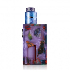 Authentic ALEADER Funky BF Squonk Mechanical Box Mod Kit w/ 7ml Bottle - Purple