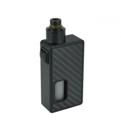 Authentic HCigar Magic 18650 BF Squonk Mechanical Mod Kit w/8ml Bottle Maze v1.1 RDA - Carbon Fiber Black