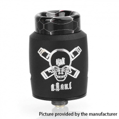 Authentic Blitz Ghoul 22mm RDA Rebuildable Dripping Atomizer w/ BF Pin - Black
