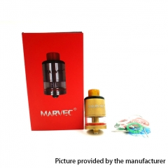 Authentic Marvec Miracle 24mm RDTA Rebuildable Dripping Tank Atomizer - Gold