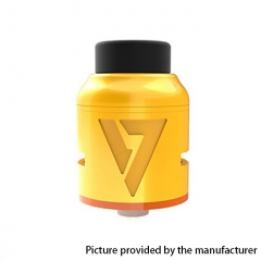Authentic Desire Mad Dog V2 24mm RDA Rebuildable Dripping Atomizer w/ BF Pin - Yellow