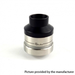 Scar Atty Style 22mm RDTA  Rebuildable Dripping Tank Atomizer w/ BF Pin 1.9ml - Silver