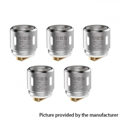 Authentic OBS Replacement M6 Coil Head for Damo Sub Ohm Tank Atomizer 5pcs - 0.2 Ohm (40~80W)