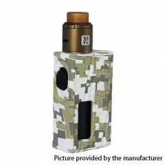 Authentic Hugo Vapor 25mm Squeezer BF 18650 / 20700 Squonk Box Mod + N RDA w/10ml Bottle Kit - Army Green