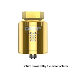 Authentic Digiflavor DROP 24mm RDA Rebuildable Dripping Atomizer w/ BF Pin - Gold