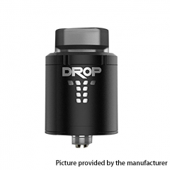 Authentic Digiflavor DROP 24mm RDA Rebuildable Dripping Atomizer w/ BF Pin - Matte Black