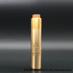Barebones Style 18650/ 20700 26mm Mechanical Mod w/ Unholy v2 Style Kit - Gold