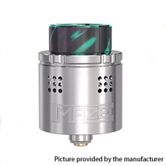Authentic Vandy Vape Maze 24mm Sub Ohm BF RDA Rebuildable Dripping Atomzier 2ml- Silver