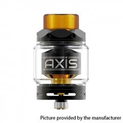 Authentic Gemz Axis 24mm RTA Rebuildable Tank Atomizer 2.5ml/4ml - Black