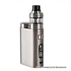 Authentic Eleaf iStick Pico 100W 18650/21700 TC VW Variable Wattage Box Mod + Ello Tank 25mm 2ml Kit - Brushed Silver
