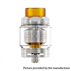 Authentic Gemz Axis 24mm RTA Rebuildable Tank Atomizer 2.5ml/4ml - Silver