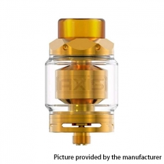 Authentic Gemz Axis 24mm RTA Rebuildable Tank Atomizer 2.5ml/4ml - Gold