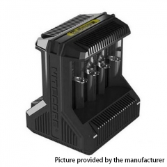 Authentic NITECORE I8 26650/18650 Multi-functional Intelligent Charger 8 Slot (US Plug) - Black