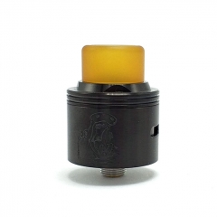 Authentic Coppervape Hippo 316SS 24mm RDA Rebuildable Dripping Atomizer w/ BF Pin - Black