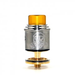 Apocalypse GEN 2 Style 24mm RDTA Rebuildable Dripping Tank Atomizer 2.6ml - Silver