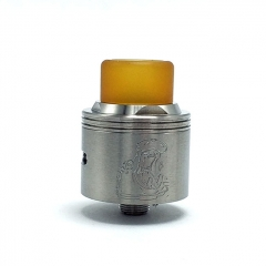Authentic Coppervape Hippo 316SS 24mm RDA Rebuildable Dripping Atomizer w/ BF Pin - Silver